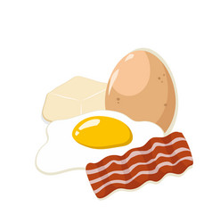 Egg with butter and bacon vector
