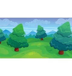 Fir Forest Game Background vector image vector image