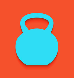 Fitness dumbbell sign whitish icon on vector