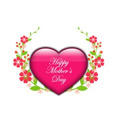 Floral background - heart with flowers vector image
