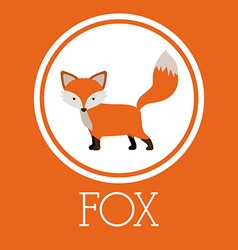 Fox design vector image