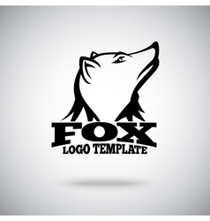 Fox logo template for sport teams brands vector image