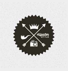 Frame hipster style isolated icon vector