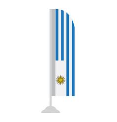 isolated uruguayan flag vector image vector image