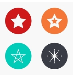 modern star colorful icons set vector image vector image
