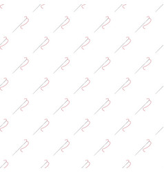 Needle with thread pattern vector