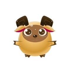 Ram Baby Animal In Girly Sweet Style vector image
