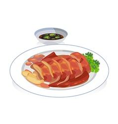 roast duck vector image vector image