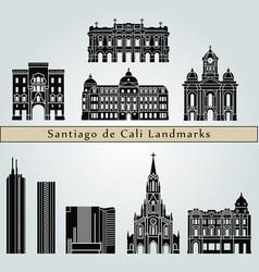 santiago de cali landmarks vector image vector image