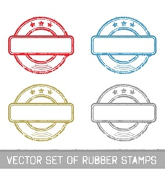 Set of rubber stamps vector image vector image