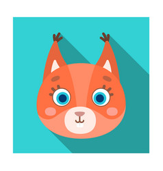 squirrel muzzle icon in flat style isolated on vector image