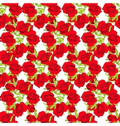 summer seamless wallpaper with roses vector image