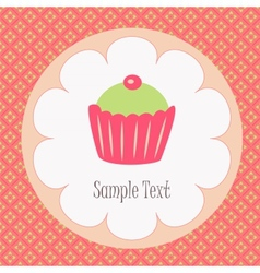 Tasty capcake vector image vector image