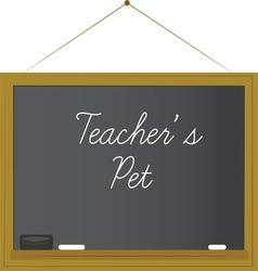 Teachers pet vector