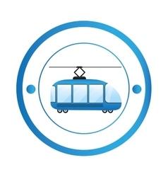 Tranvia urban transport vector image