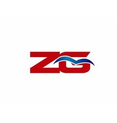 Zg letter logo vector