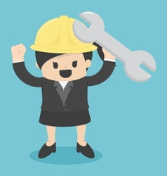 Business woman engineer architect and construction vector