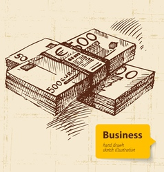 Hand drawn business background vector