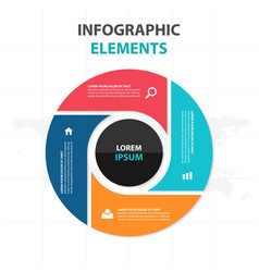 Abstract colorful circle business infographics vector