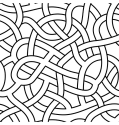 Seamless abstract complex maze labyrinth path vector