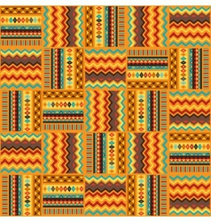 Ethnic ornament abstract geometric seamless fabric vector image