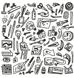 Paint tools - doodles vector