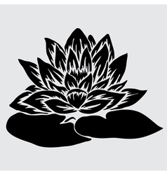 decorative lotus vector image