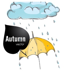 Rainy season background vector