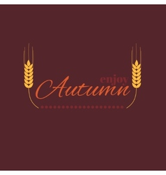 Enjoy autumn vector