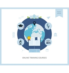 Online education and courses vector