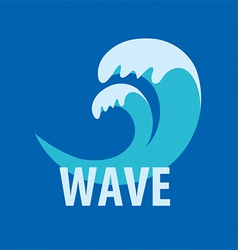 Abstract logo sea waves vector