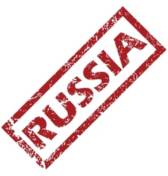 New russia rubber stamp vector