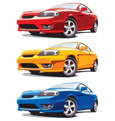 sports cars vector image