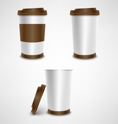 Plastic coffee cup template vector