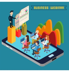 Business webinar technology web seminar vector