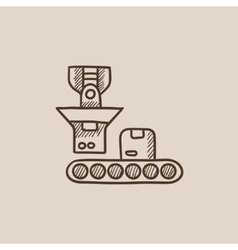 Robotic packaging sketch icon vector image