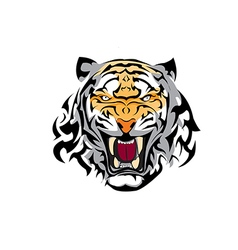 Tiger tatoo one vector