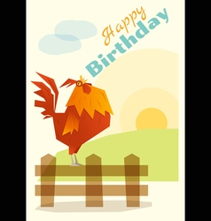 Birthday and invitation card animal background vector