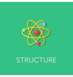 Atom structure flat style vector