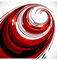 Abstract red and black spiral circles background vector