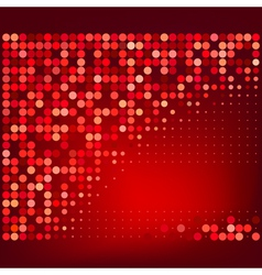 Abstract Red Halftone Dots Background vector image