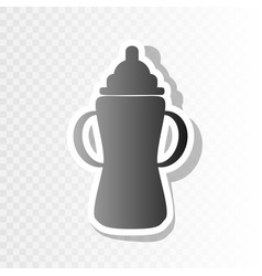 Baby bottle sign new year blackish icon vector