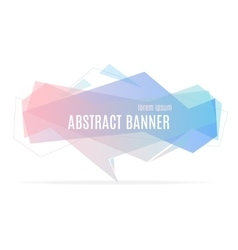 Banner Geometric Trendy vector image vector image