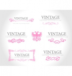 baroque vintage royal design elements vector image