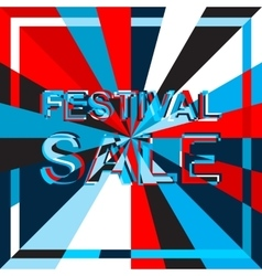 Big ice sale poster with festival sale text vector