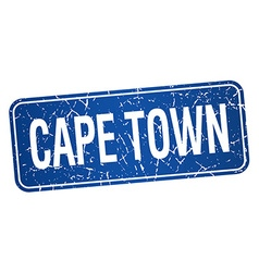 Cape town blue stamp isolated on white background vector