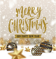 christmas greeting vector image