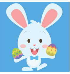 cute easter bunny collection stock vector image vector image