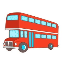 Double decker bus icon cartoon style vector