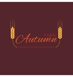 Enjoy autumn vector